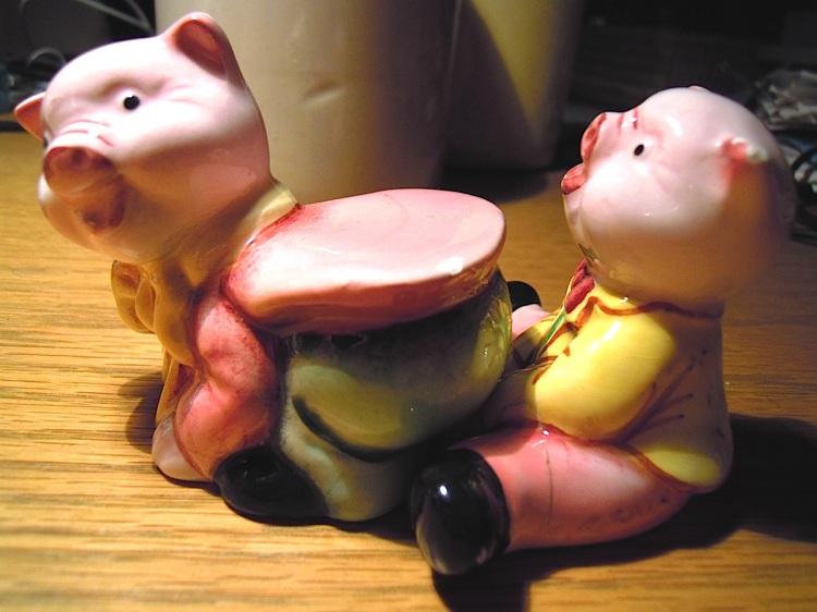 pigs at play