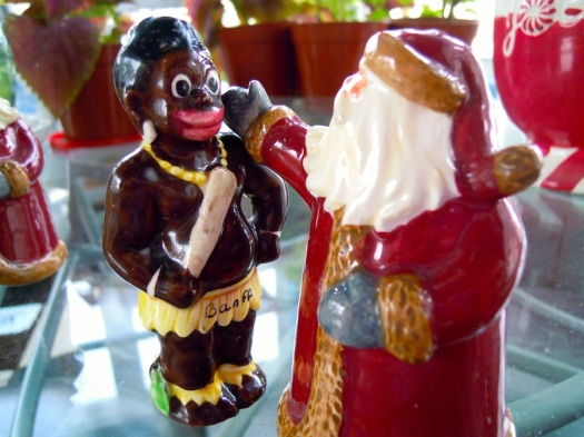 Santa and African